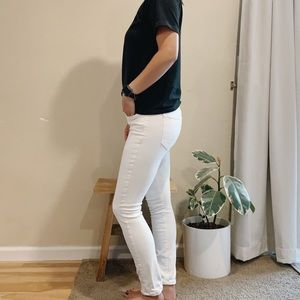 Joes White Ankle Cropped Denim